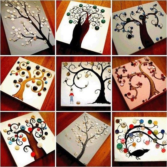 Картины своими руками из подручных материалов с фото