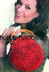 Вязание крючком - СУМКА-ЦВЕТОК