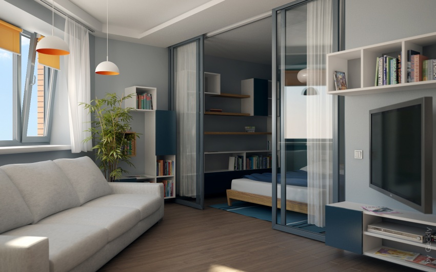 Как обставить однокомнатную квартиру идеи 5
