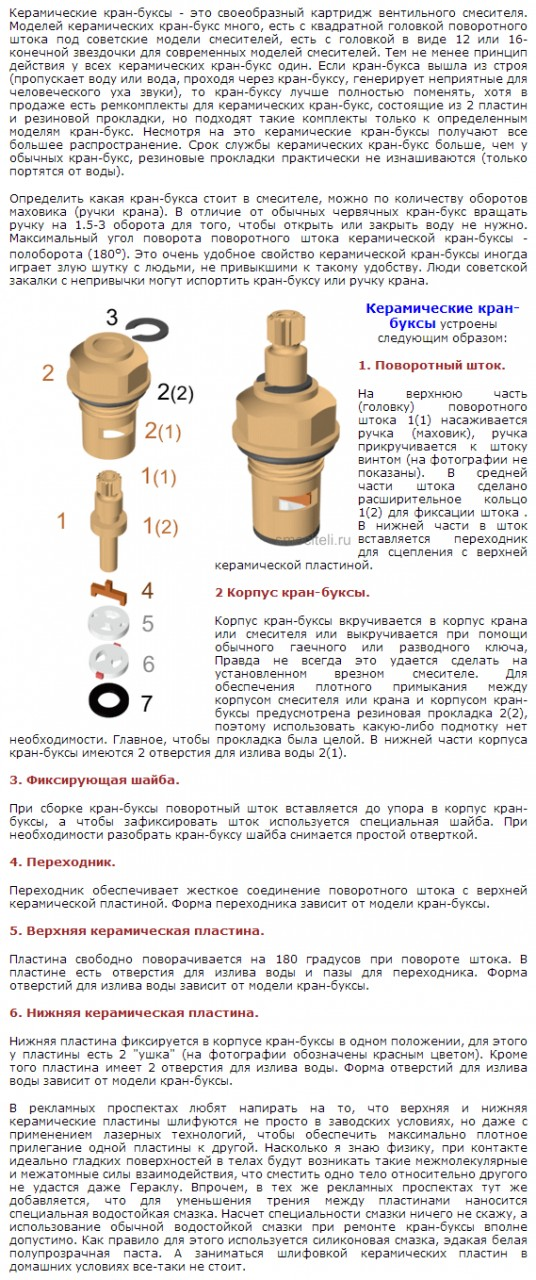 Кран букса керамическая ремонт своими руками