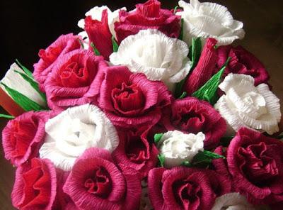 Прекрасные розы из бумаги своими руками!!!!!