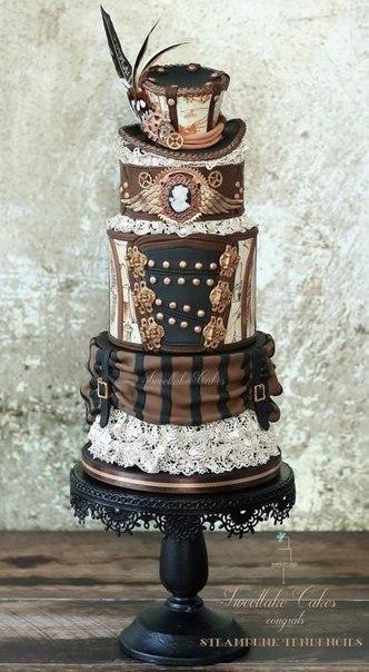 Торты для стимпанк-свадьбы