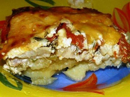 Картофельная запеканка с рыбкой.