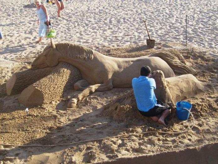 Эти скульптуры из песка создавали настоящие мастера в мире, скульптура