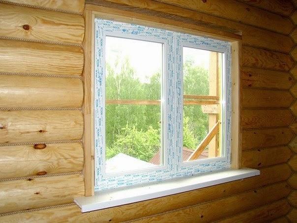 Инструкция по установке пластикового окна в деревянном доме