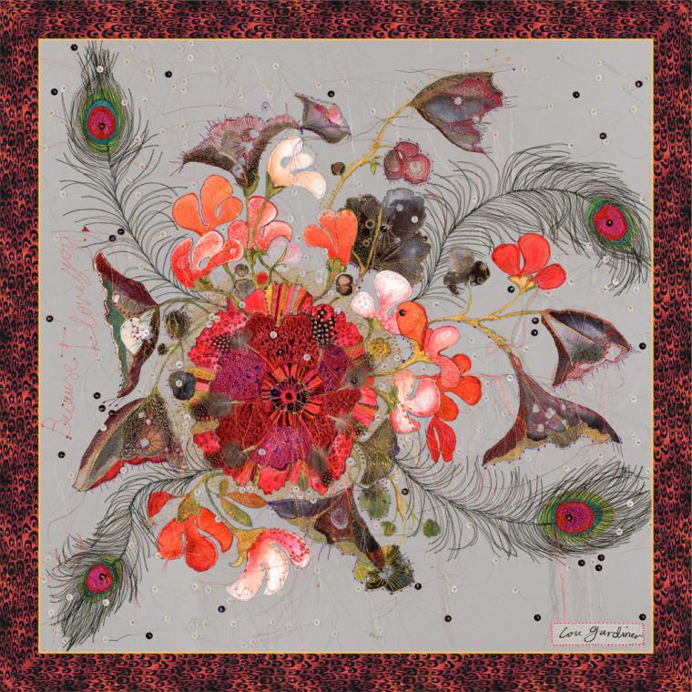 Уникальные работы Louise Gardiner: необычное сочетание машинной вышивки, аппликаций и красок