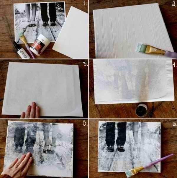 Перенос фото на ткань.