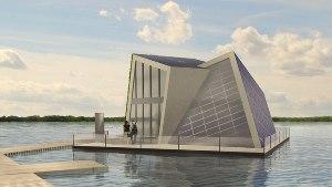 Автономный плавучий дом прои…