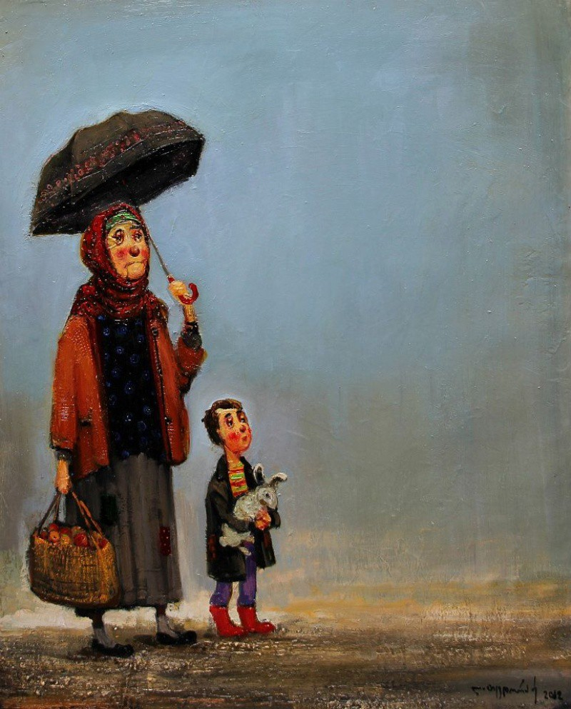 В этих картинах есть особенное тепло грузия, солнце, тепло, художник