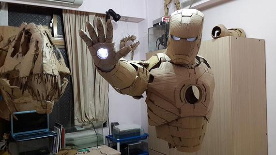 Как сделать руки железного человека из картона