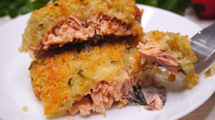 Рыба запеченная под хлебной корочкой Горбуша, Рыба, Рецепт, Видео рецепт, Еда, Кулинария, Видео