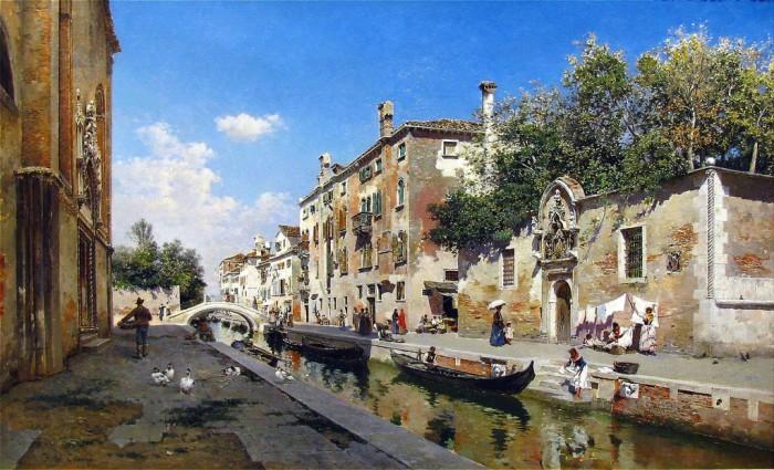 городские пейзажи художника Federico del Campo - 07