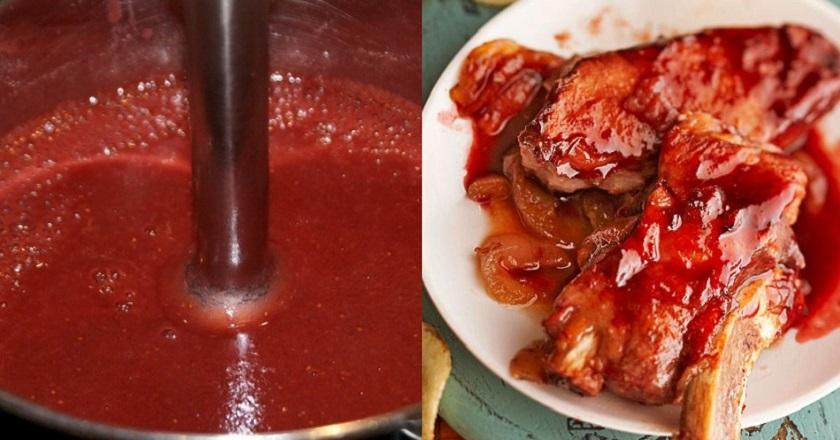 Клубничный соус к мясу