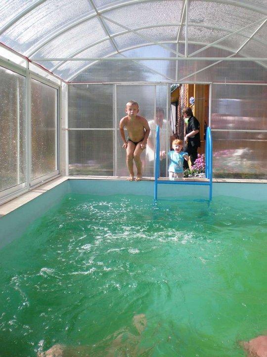 Бассейн крытый своими руками на даче