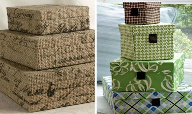 Коробки для хранения своими руками из обувных коробок
