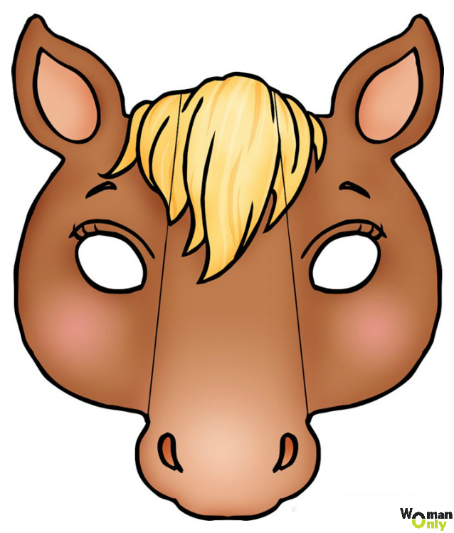 Новогодние маски из бумаги - праздник уже <em>голову</em> с вами маска лошади