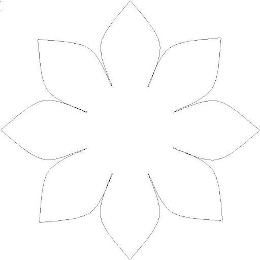 Цветы крупные своими руками шаблоны 16