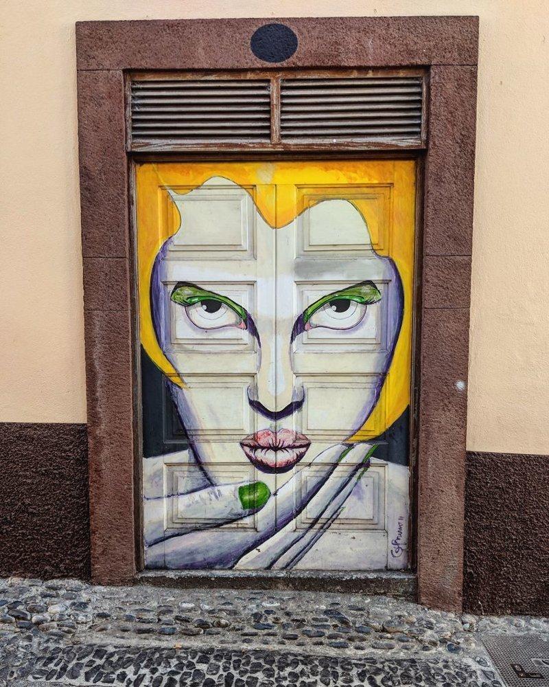 16. дверь, картина, мадейра, португалия, путешествие, фотография, фотомир