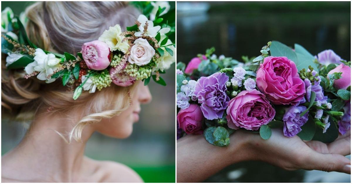 Самое летнее украшение: великолепный венок из живых цветов