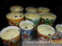 Фото приготовления рецепта: Пасхальный кулич без замеса - шаг №19