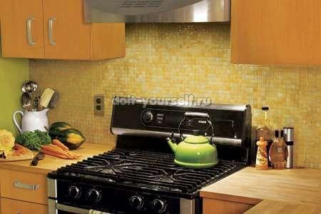 Делаем фартук для кухни своими руками из плитки