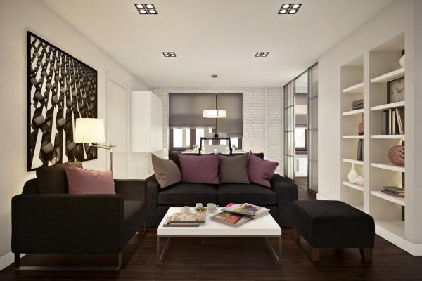 Стильный дизайн двухкомнатной квартиры 45 кв м фото