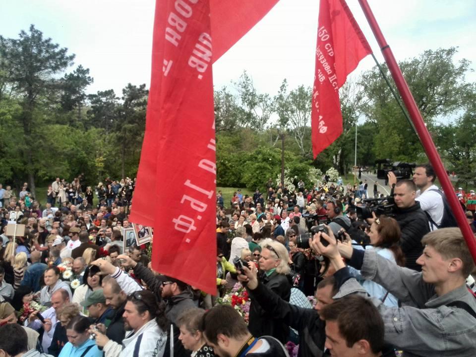 Смерти вопреки: одесситы вышли на улицы в День Победы (ФОТО, ВИДЕО)