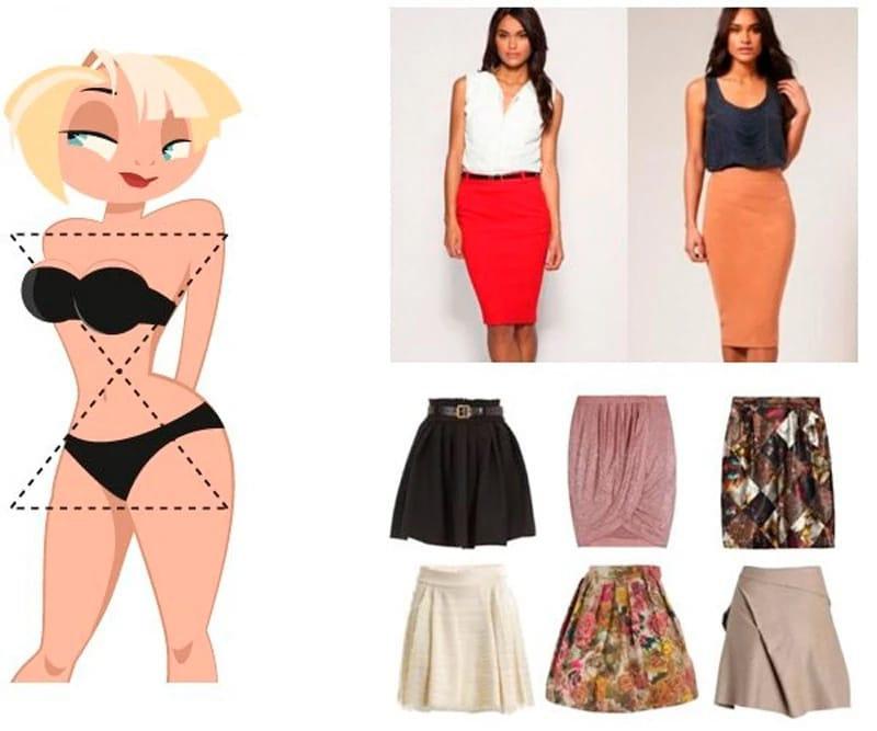 Как выбрать юбку по своей фигуре -- немного советов с картинками