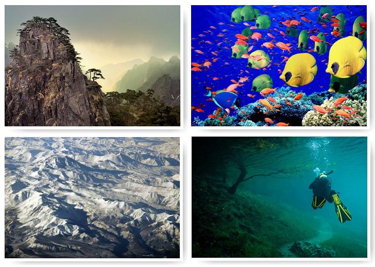 Семь «цветных» географических объектов