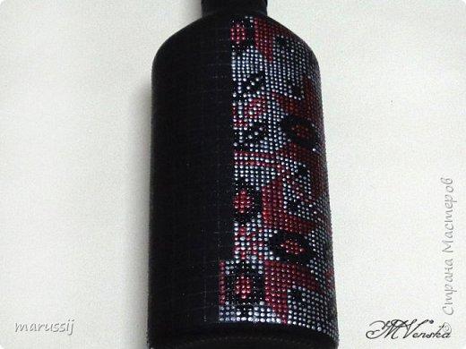Декор предметов Мастер-класс Роспись По мотивам вышивки Бутылки стеклянные фото 12