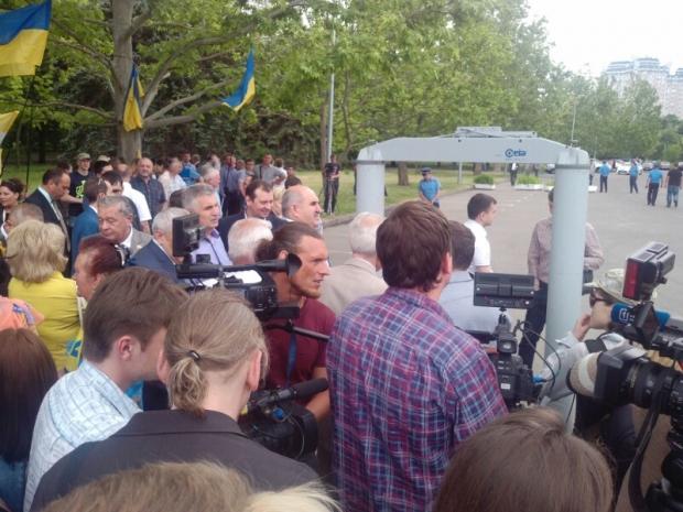 Одесситы вышли на митинг с ф…