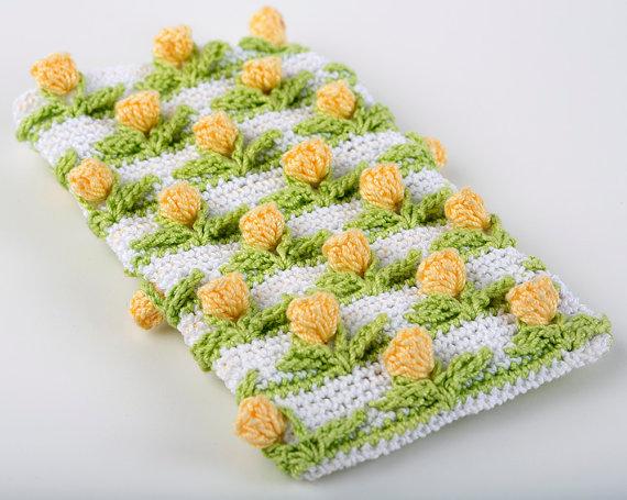Crochet Pattern Tulip Field Baby Blanket PDF Instant Download