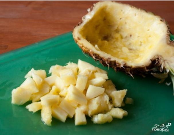 БЛЮДО ВЫХОДНОГО ДНЯ. Салат в ананасе