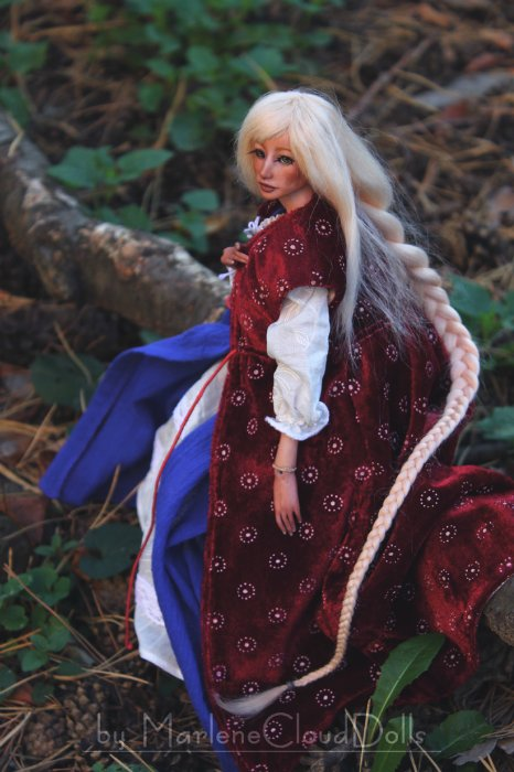 Кукла рапунцель с шарнирами
