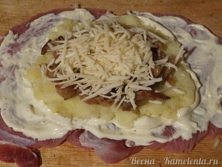 Приготовление рецепта Мясо по-гусарски шаг 9