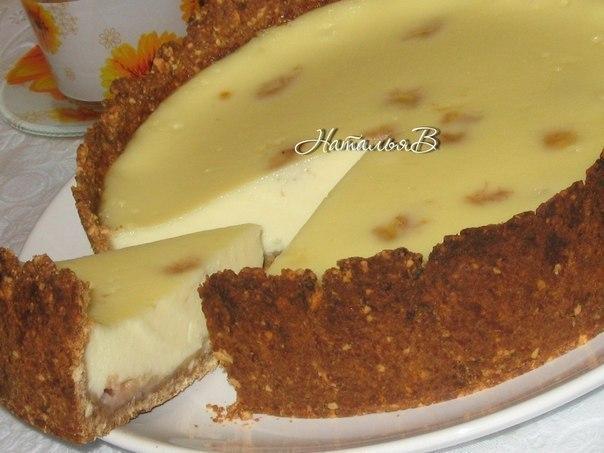 Сливочно-банановый пирог.