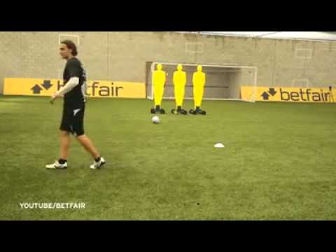 YouTube free-kick sensation Bas van Velzen teaches Liverpool stars a few tricks