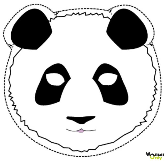 Новогодние маски из бумаги - праздник уже с вами маска панды