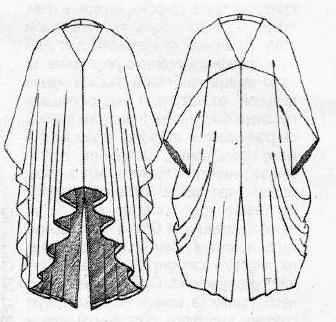 Технический рисунок платья