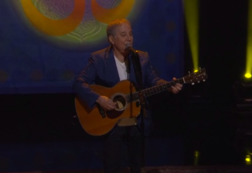"Paul Simon performs ""Here Comes The Sun"" for George Harrison Week on Conan — watch"