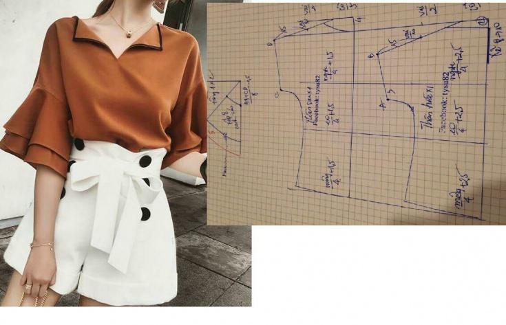 Актуальная блуза (выкройка)
