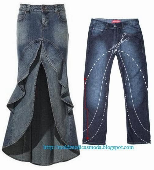 Moda e Dicas De Costura: reciclagem DE Calco JEANS - 3