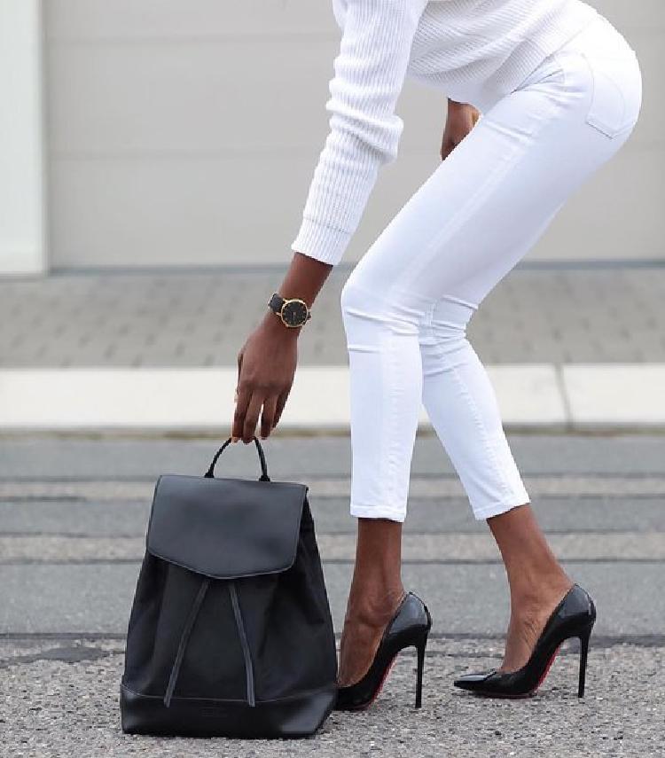 16 сногсшибательных образов с белыми брюками 2018