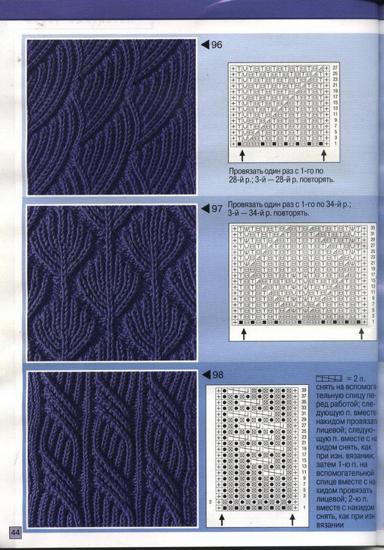 схема вязания крючком красивого узора для жакета