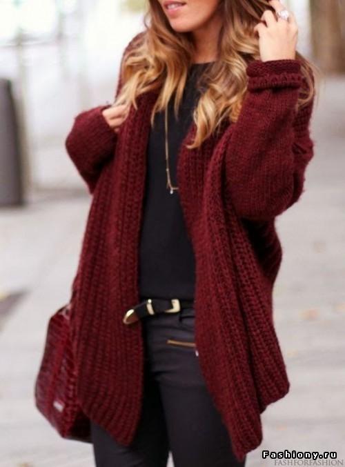 Бордовый цвет в вязании