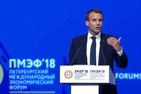Макрон призвал к сохранению партнерских отношений между Россией и Францией