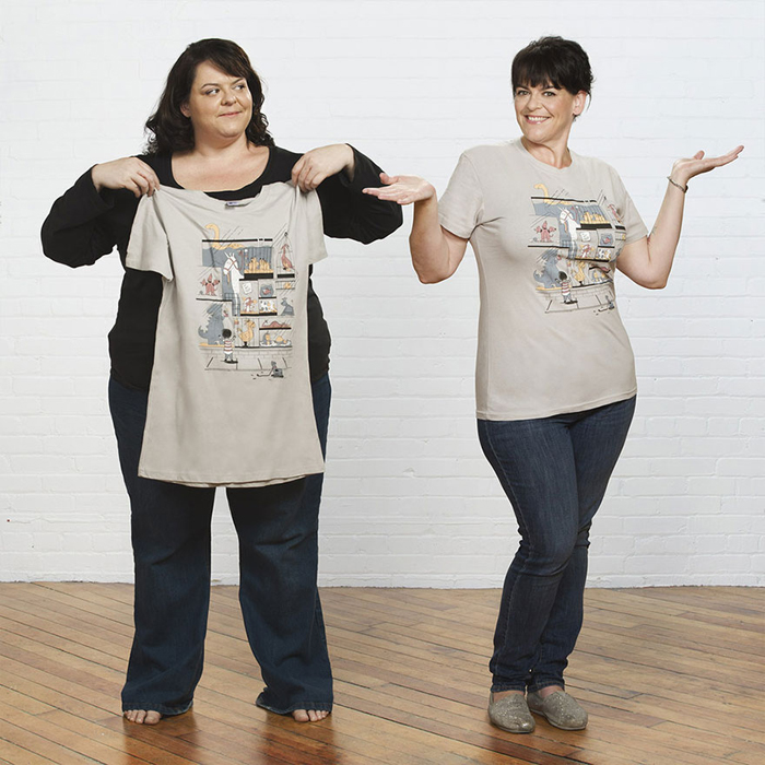 """""""До и после"""": Забавный проект, наглядно показывающий результат похудения"""