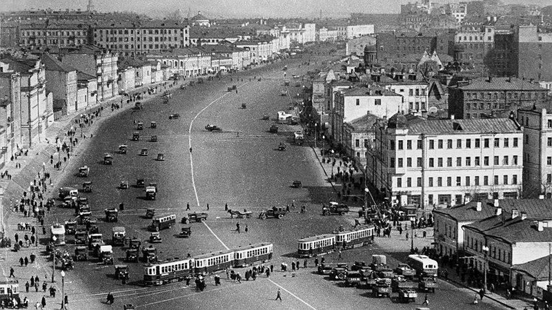 7. Садовое кольцо до и после, дороги, интересно, история, столица, тогда и сейчас, фото москвы