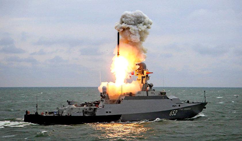 Российские корабли в Средиземноморье нацелили ракеты на Идлиб