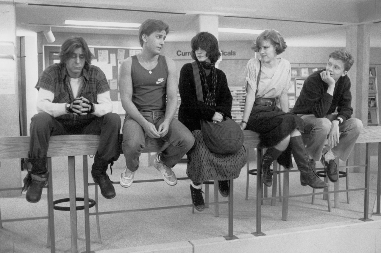 The breakfast club poster black and white